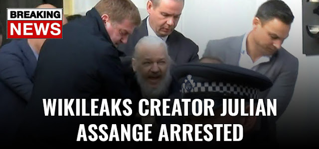 Julian Assange Arrested,