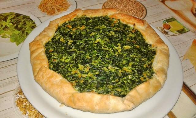 пиріг зі шпинатом і сиром рецепт