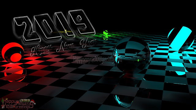 Happy New Year 2019 3D Desktop Background Wallpapers Download - New Year 2019 3D HD Desktop Background Wallpapers Download Free