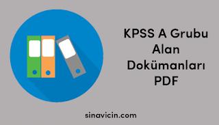 KPSS A Grubu Alan Dokümanları PDF