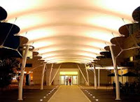Fabric Walkway Canopies Suppliers + Polycarbonate Walkway Shades Suppliers in Dubai + Sharjah + Ajman + UAE
