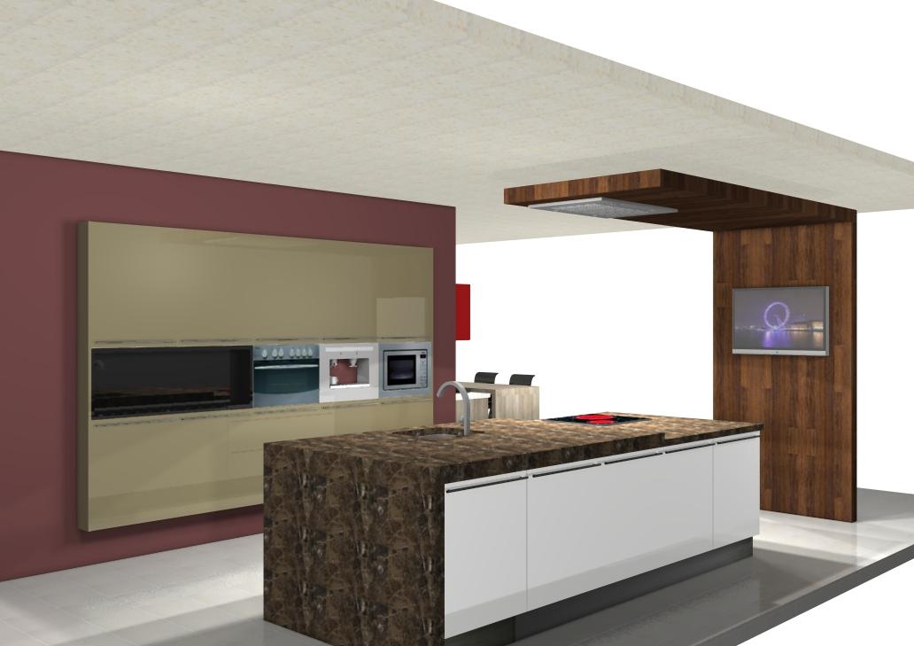 Centro kitchenmaster madrid 3d cocinlux estudio con for Software para diseno de cocinas