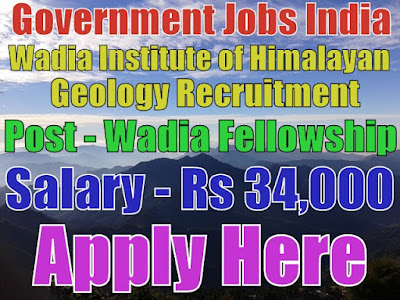 Wadia Institute of himalayan geology recruitment 2017