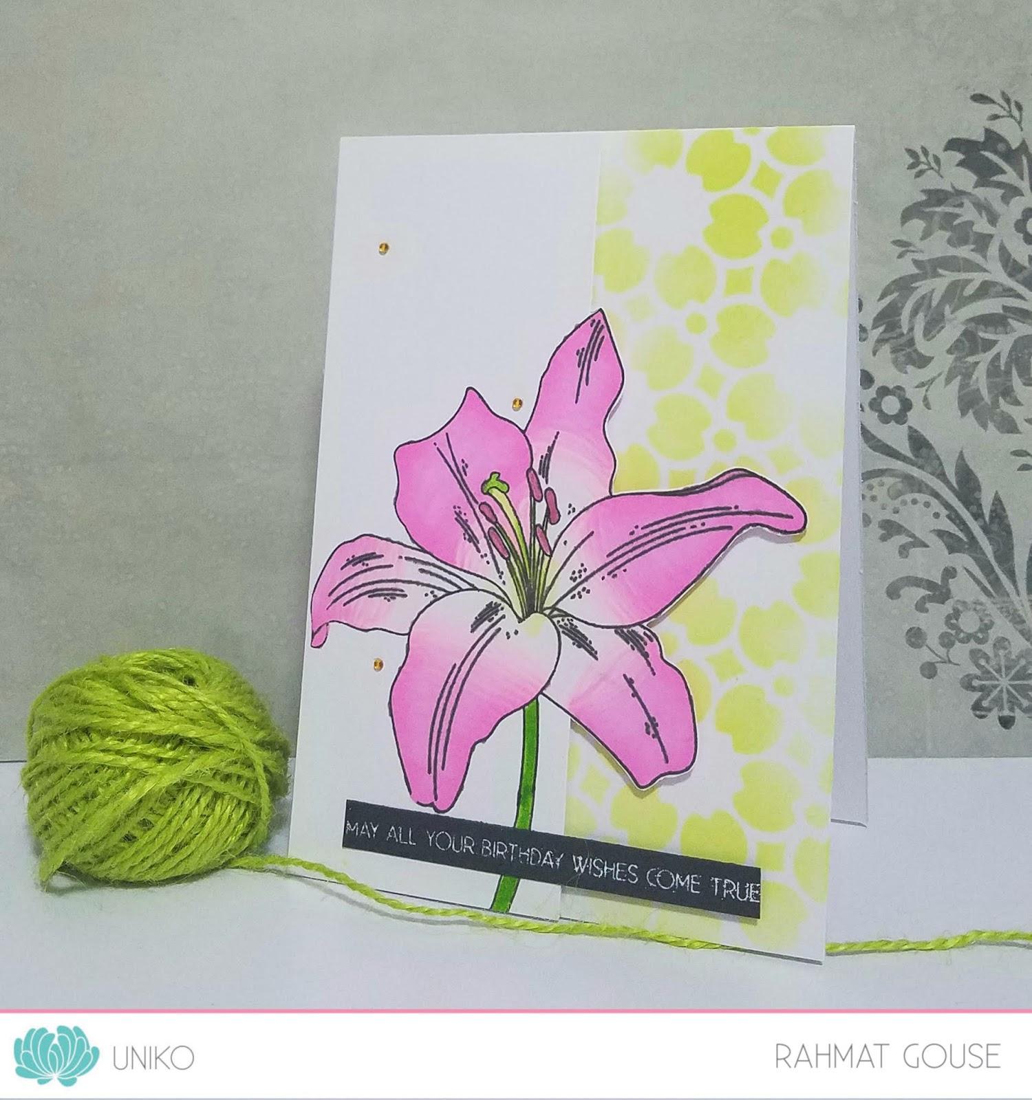 Uniko Studio Floral Stamp With Floral Stencil