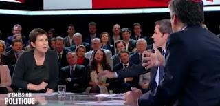 Un échange très tendu entre Christine Angot et François Fillon a eu lieu hier sur France 2, dans L'Emission politique. | France 2