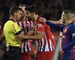 Simeone s'interroge sur l'expulsion de Diego Costa Barcelone et de l'Atlético de Madrid