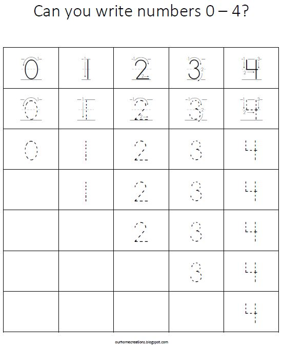 Common Worksheets » Tracing Numbers 1-10 - Preschool and ...