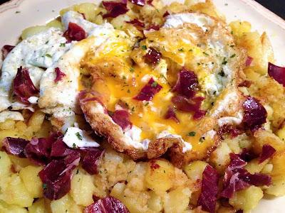 Huevos estrellados - Huevos fritos con patatas y jamón ibérico - el gastrónomo - ÁlvaroGP