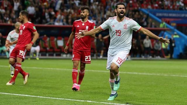 Sengit, Spanyol Kalahkan Iran 1-0
