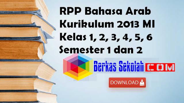 RPP Bahasa Arab Kurikulum 2013 MI Kelas 1, 2, 3, 4, 5, 6 Semester 1 dan 2