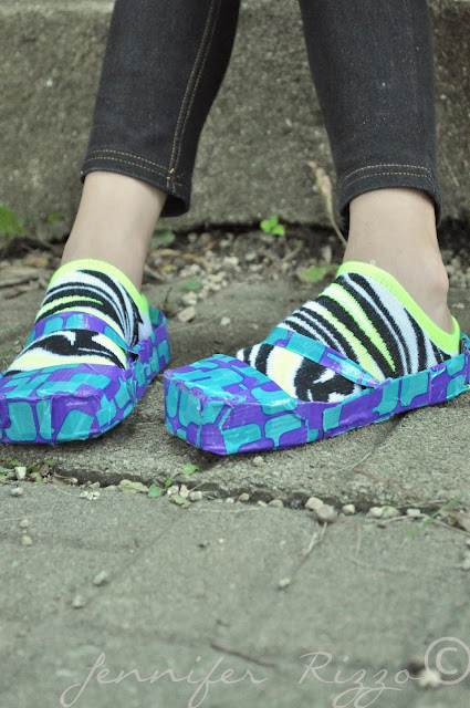 cover your shoes in duct tape