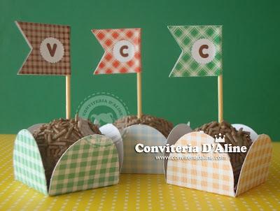 bandeirinhas forminhas festa junina decoração