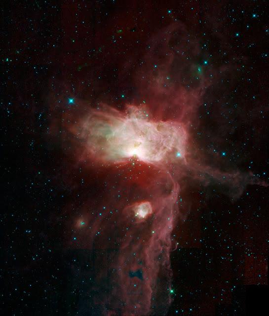 The Flame Nebula, The Horsehead Nebula and NGC 2023