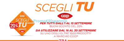 Logo Buoni sconto 20% Unicoop Tirreno