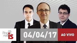 AO VIVO: Os Pingos nos Is desta terça-feira (04/04/2017) com Reinaldo Azevedo na rádio Jovem Pan
