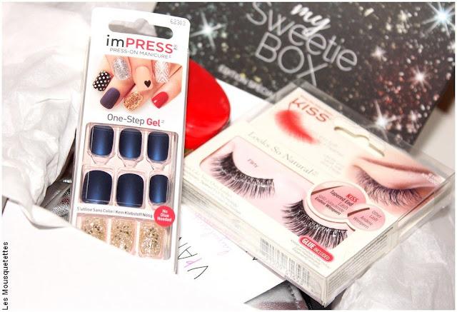 imPRESS et faux cils KISS Products - My Sweetie Box décembre 2017 - Blog beauté