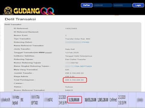 Selamat Kepada Member Setia GudangQQ WD sebesar Rp. 9,150,000.-