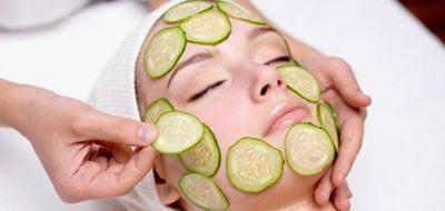 Cara menghilangkan minyak pada muka dengan menggunakan Mentimun