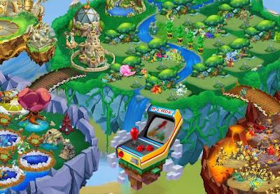 imagen de la isla video juegos de dragon city