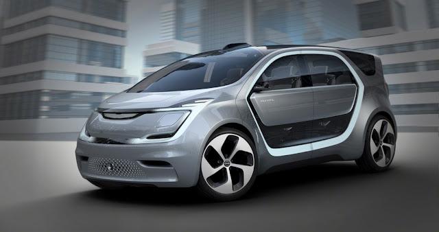 Chrysler unveils portal concept car with a Selfie cam, Face recognition, Voice biometrics and DC quick charging