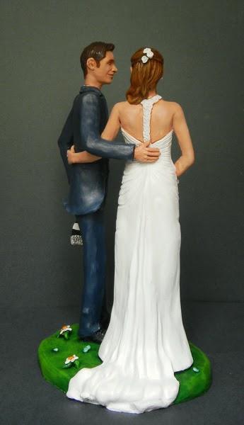 i cake topper più belli sposini personalizzati sposo tifoso orme magiche