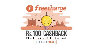Upto Rs. 150 Cashback, Freecharge Electricity Bill Payment Offers