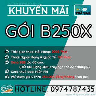 B250X - GÓI KHUYẾN MÃI TRẢ SAU VIETTEL B250X