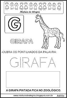 Bichonário desenho de girafa