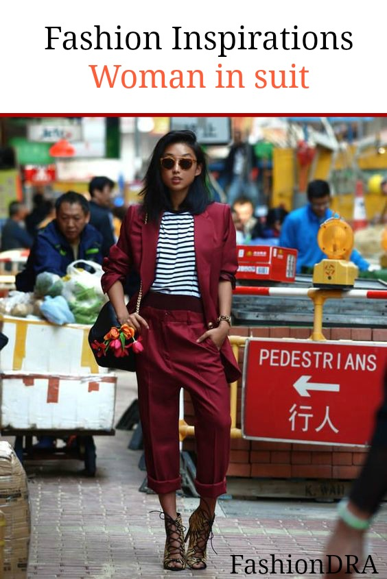 FashionDRA   Fashion Inspirations : Woman in suit