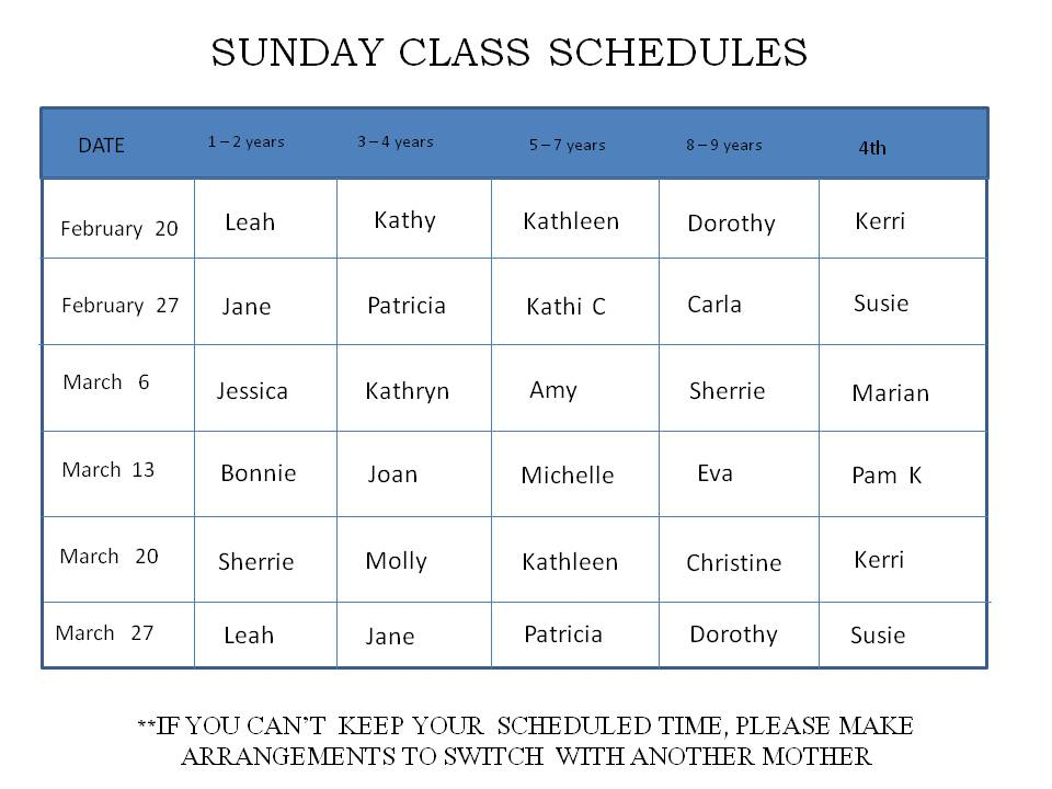 Teacher weekly planner free printable for Sunday school calendar template