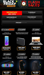 Jumia Black Friday Festival Day 8 Deals 20th November 2017
