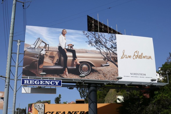 Sam Edelman shoes Carolyn Murphy S18 billboard