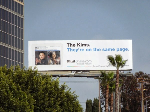 The Kims They're on the same page Mail online billboard