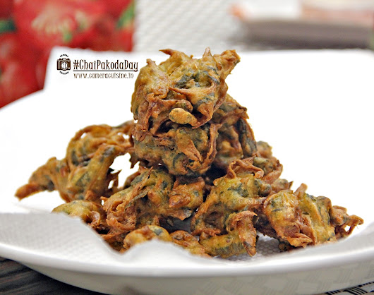 Recipe - Palak Kanda Bhajiya for #ChaiPakodaDay
