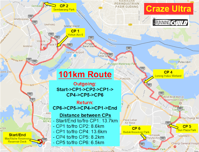 101km+route+map+with+CP+%2526+5km+marker