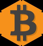 bitcoin hexagon icon