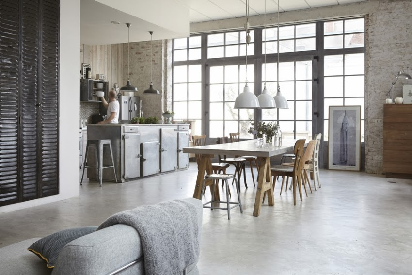 Loft ze skandynawską duszą, wystrój wnętrz, wnętrza, urządzanie domu, dekoracje wnętrz, aranżacja wnętrz, inspiracje wnętrz,interior design , dom i wnętrze, aranżacja mieszkania, modne wnętrza, loft, styl loftowy, styl industrialny, styl skandynawski, jadalnia, kuchnia