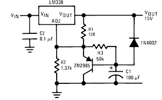 LM338+slow+turn+ON+power+supply+circuit Datasheet Lm on