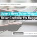 Jquery News Ticker Widget with ticker Controller For Blogger Site