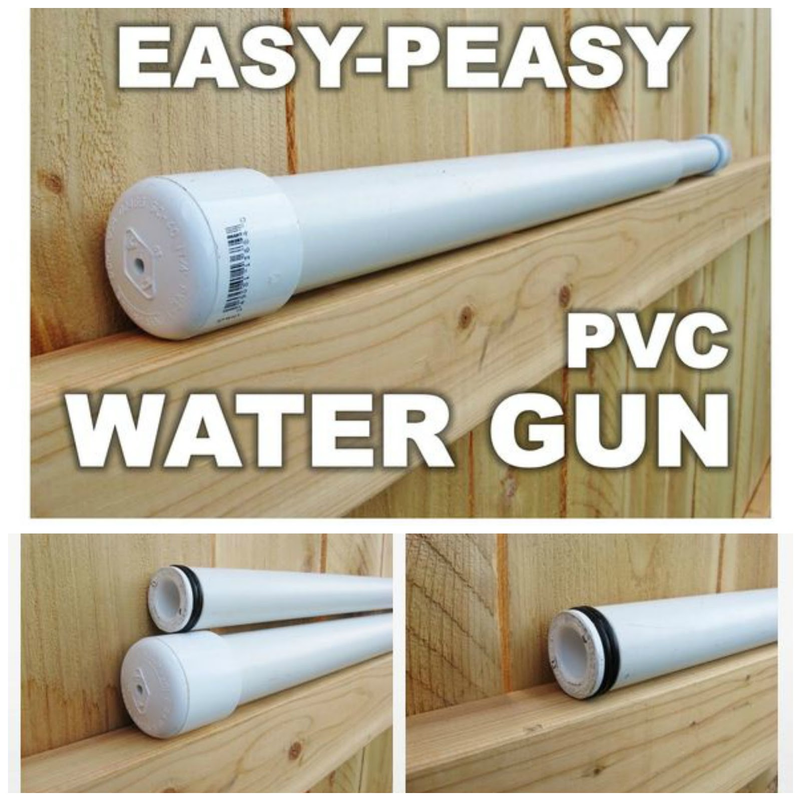 Easy PVC Homemade Water Gun Soaker   Handy & Homemade