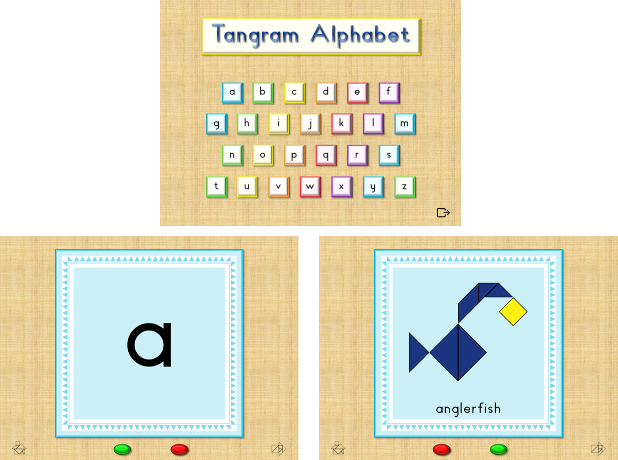 Colorful Tangrams Animals Amp Letters