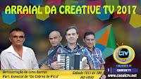 Arraial da Creative TV acontecerá neste sábado (01) às 18h ao vivo