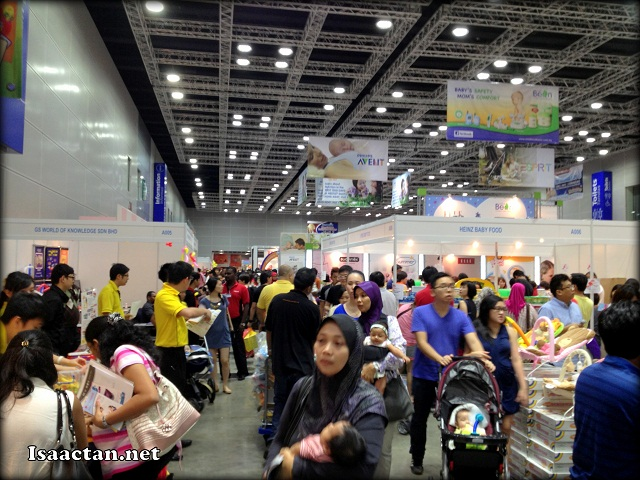 Part of the huge crowd turnout today at the Motherhood Expo 2013