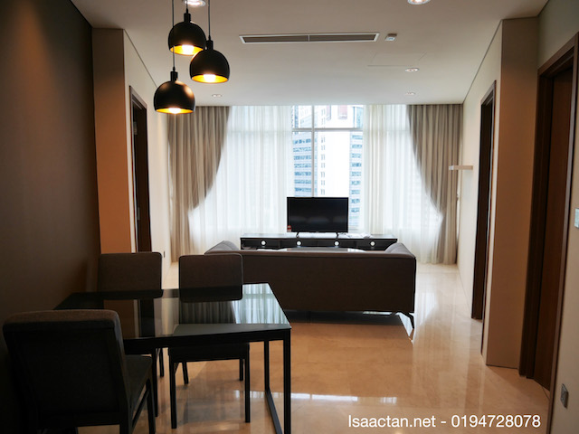 One of the fully furnished rooms in VORTEX KLCC