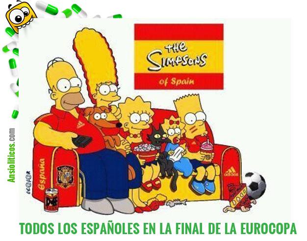 Chiste de Eurocopa:  Los Simpson como España en la Final