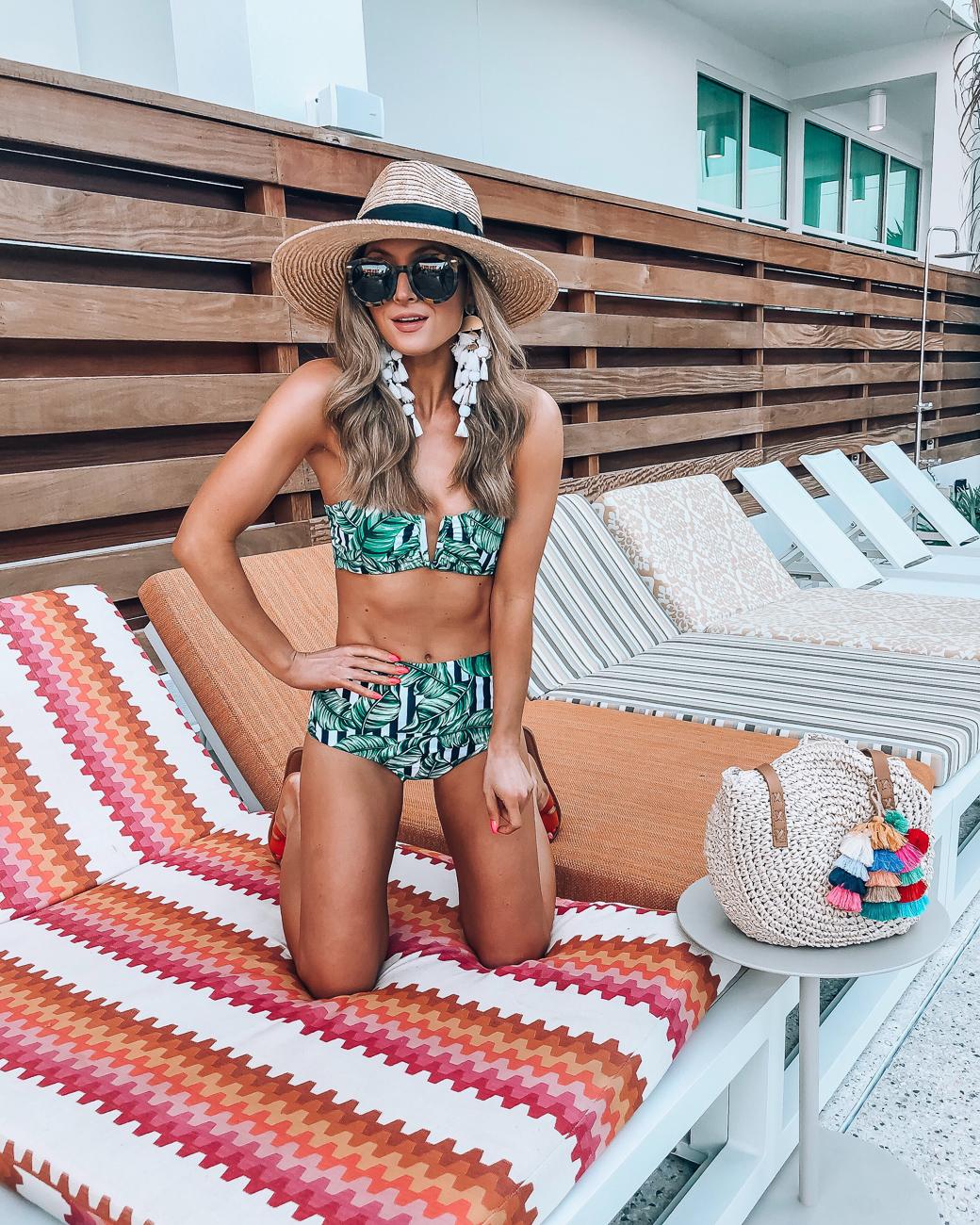 palm print bikini