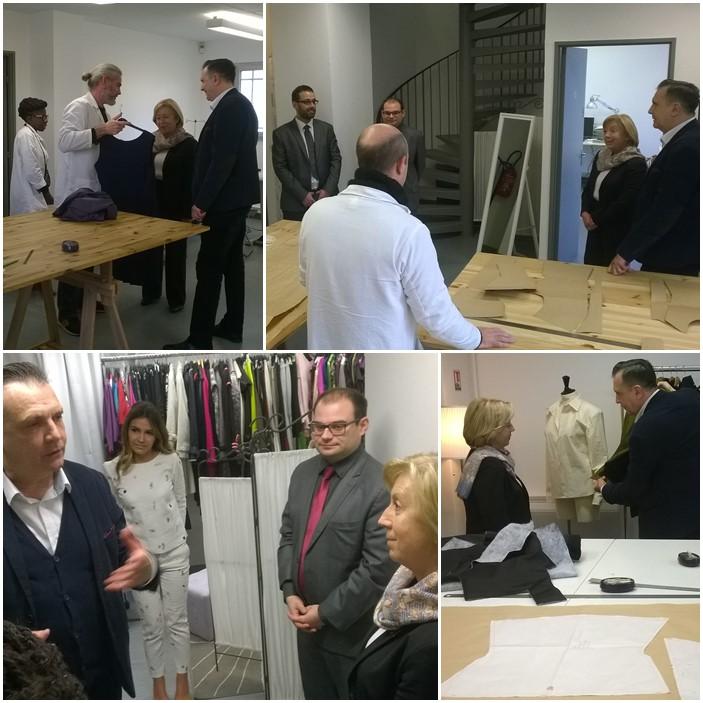 Madame le maire de villepinte martine valleton visite les ateliers de formation et l 39 incubateur - Monsieur le directeur de cabinet ...
