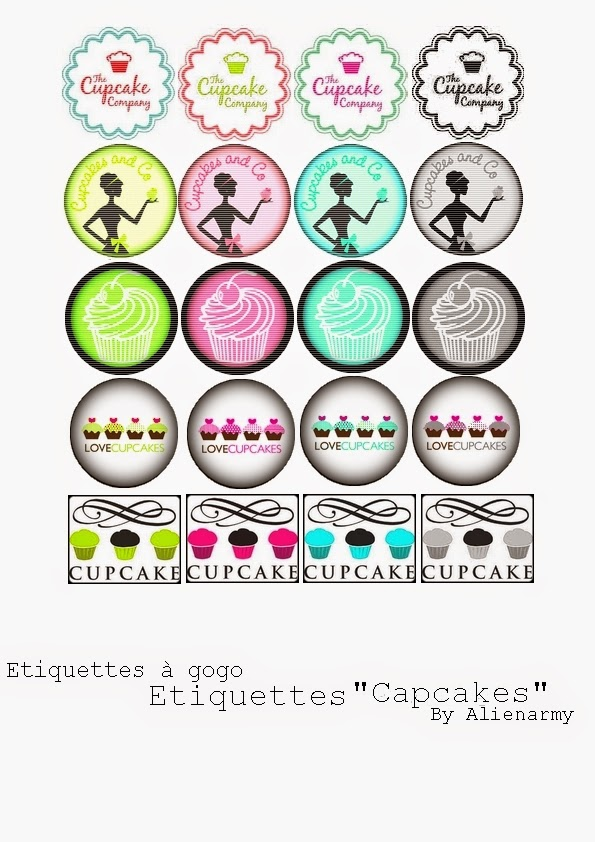 Retro the Cupcake Company Free Printable Toppers.