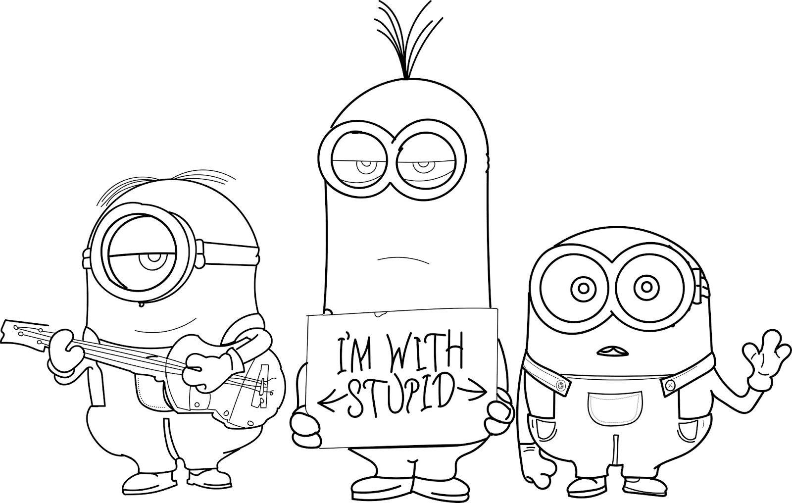 Download Sketsa Gambar Minion Aliransket