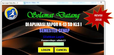 Download Aplikasi Raport SD Kelas 1,2, 4, dan 5 Kurikulum 2013 Revisi 2018